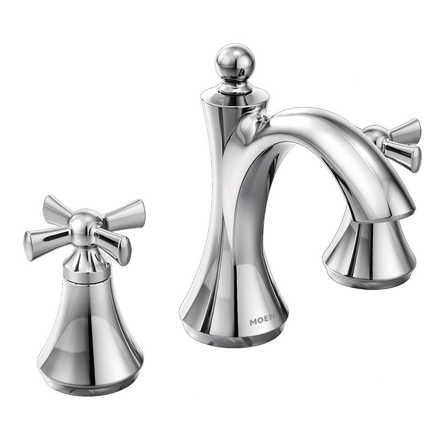 Moen Wynford Chrome 2-Handle Widespread WaterSense Bathroom Faucet (Drain Included)
