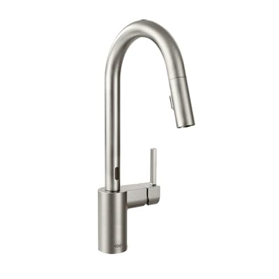Align Spot Resist Stainless 1-Handle Deck Mount Pull-down Touchless  Commercial/Residential Kitchen Faucet