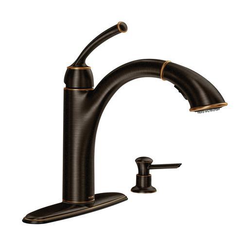 Sullivan Mediterranean Bronze 1-Handle Deck Mount High-Arc  Commercial/Residential Kitchen Faucet