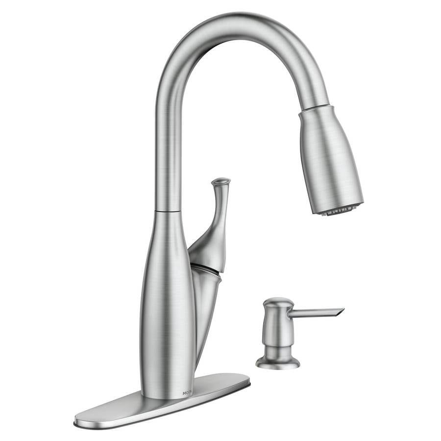Moen Kendall Spot Resist Stainless 1 Handle Pull Down Deck Mount Kitchen  Faucet