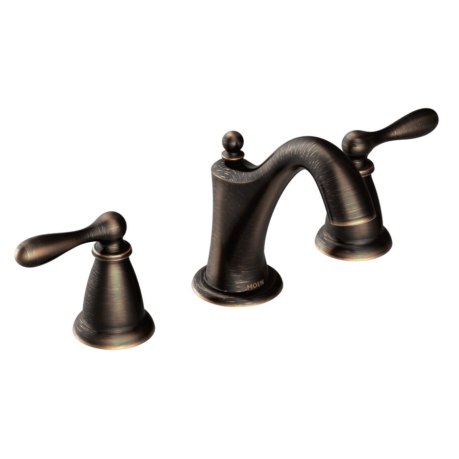 Moen Caldwell Mediterranean Bronze 2 Handle Widespread WaterSense Bathroom  Faucet (Drain Included)