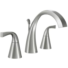 Moen Graeden Spot Resist Brushed Nickel 2 Handle 8 In Widespread Watersense Bathroom Sink Faucet With Drain In The Bathroom Sink Faucets Department At Lowes Com