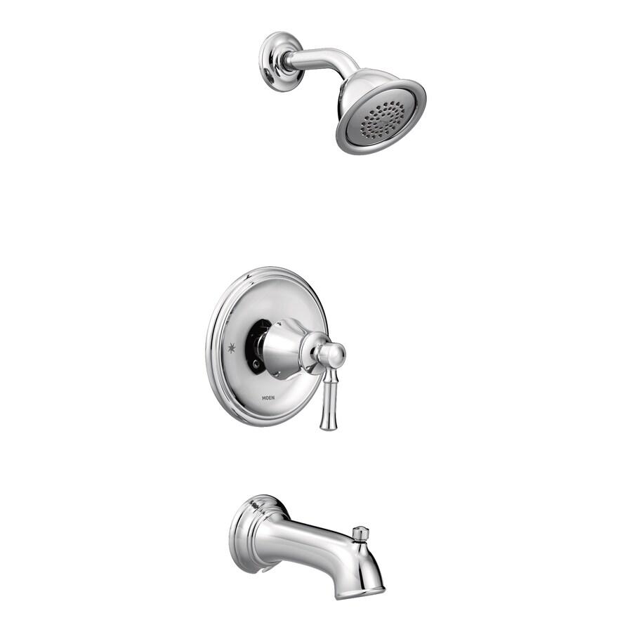 Moen Dartmoor Chrome 1-Handle Bathtub and Shower Faucet