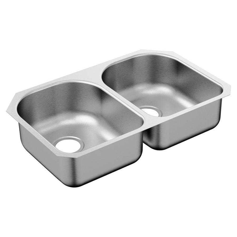 Moen 1800 29 25 In X 18 5 In Stainless Steel Double Basin