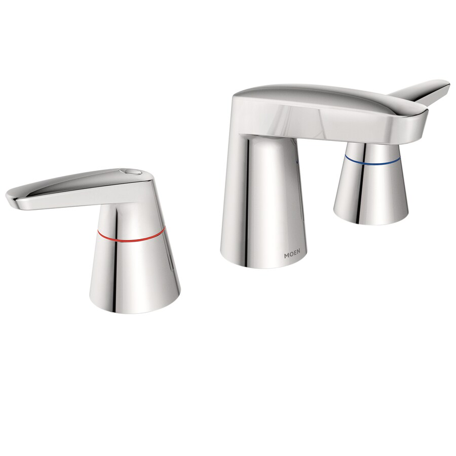 Shop Moen M Dura Chrome 2 Handle Widespread Commercial Bathroom Sink Faucet At