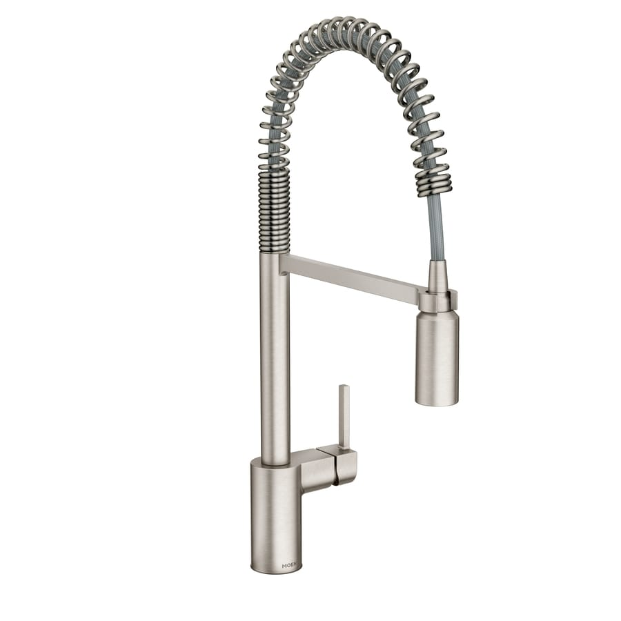 Shop Moen Align Spot Resist Stainless Steel 1 Handle Deck
