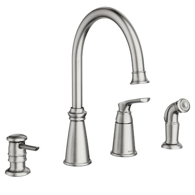 Moen Whitmore Stainless 1 Handle Deck Mount High Arc Commercial