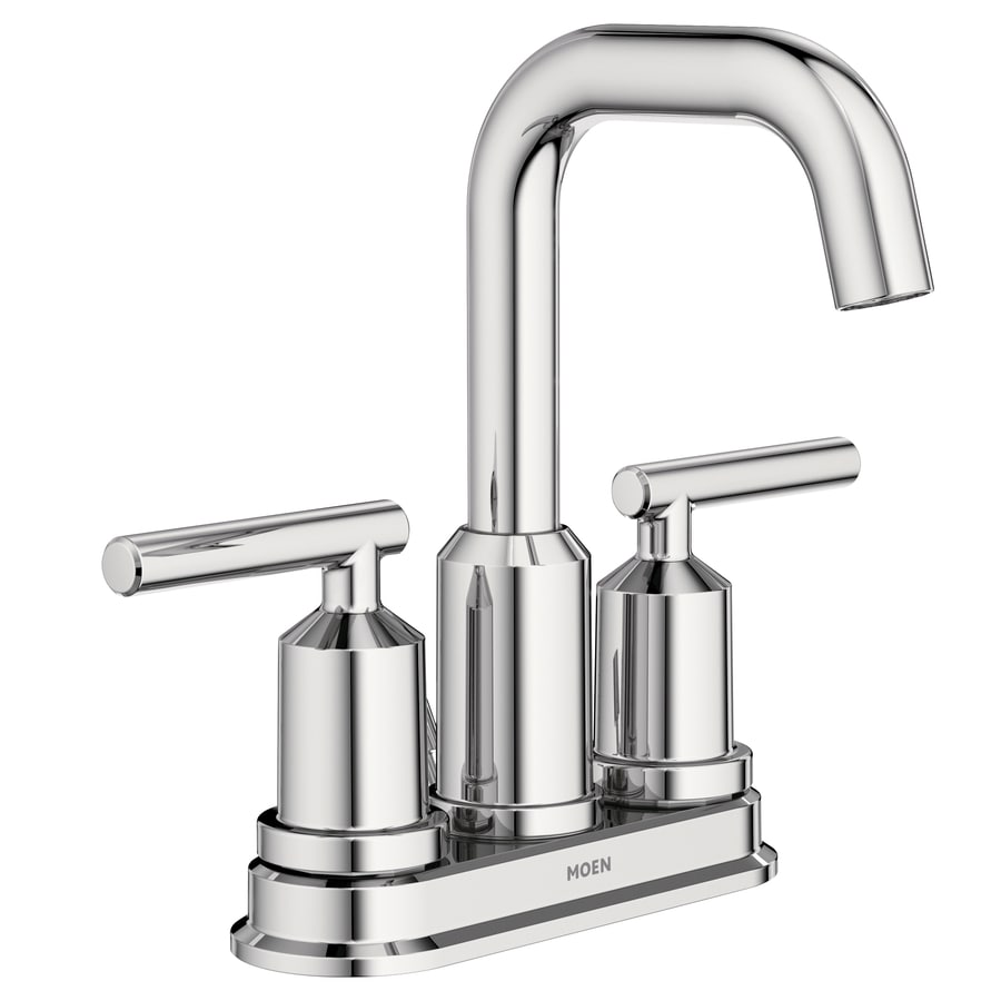 Moen gibson chrome 2 handle 4 in centerset watersense - Moen chrome bathroom sink faucets ...
