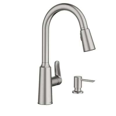 Edwyn Spot Resist Stainless 1-Handle Deck Mount Pull-down  Commercial/Residential Kitchen Faucet
