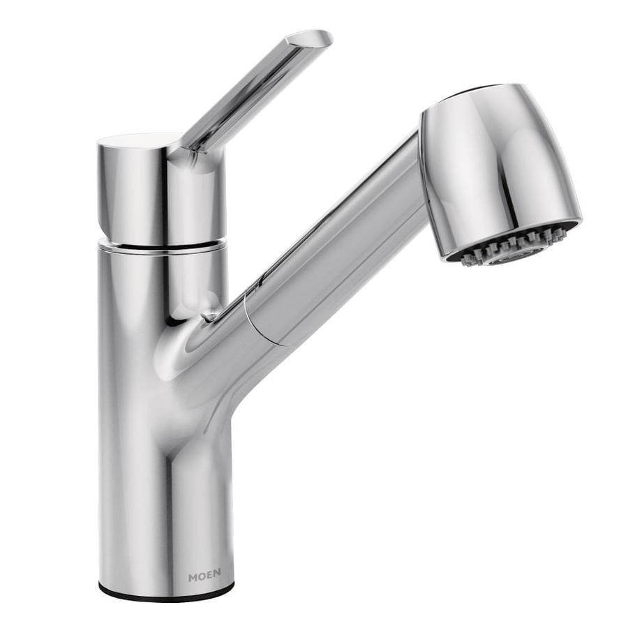 Shop Moen Method Chrome 1-handle Deck Mount Pull-out Kitchen Faucet ...