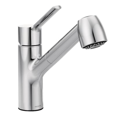 Method Chrome 1-handle Deck Mount Pull-out Kitchen Faucet