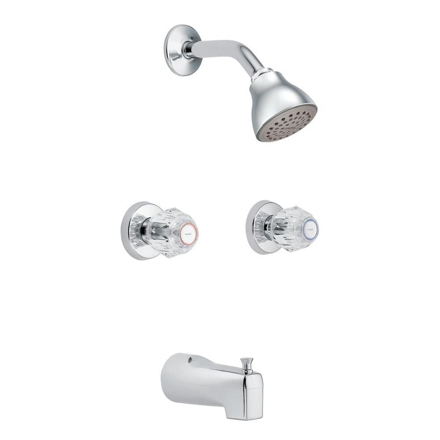 Moen Chateau Chrome 2-handle Bathtub And Shower Faucet with Valve