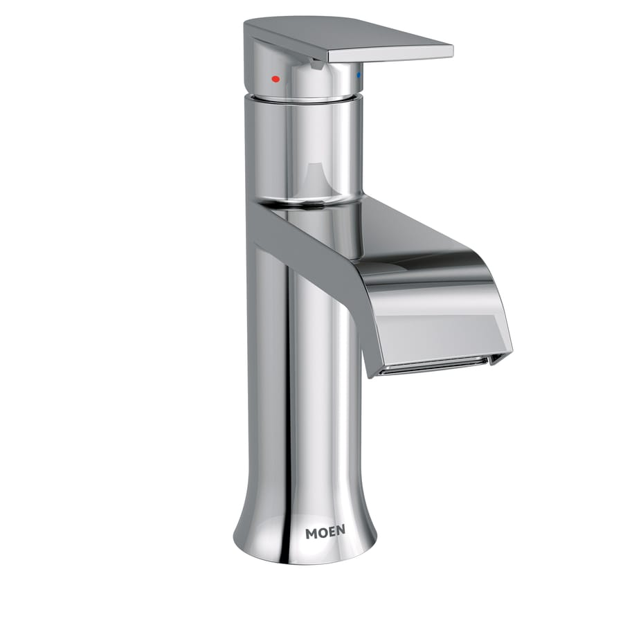 Shop Moen Genta Chrome 1-handle Single Hole Bathroom Sink Faucet at ...