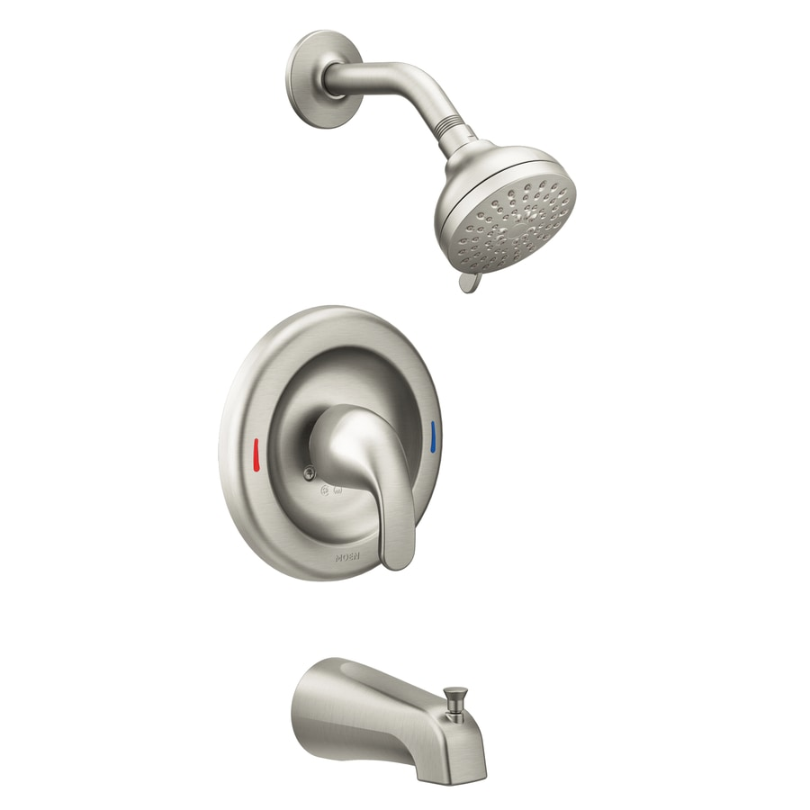 Moen Adler Spot Resist Brushed Nickel 1 Handle Bathtub And