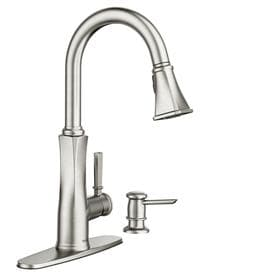 Moen Lizzy Spot Resist Stainless 1 Handle Deck Mount Pull Down Kitchen Faucet