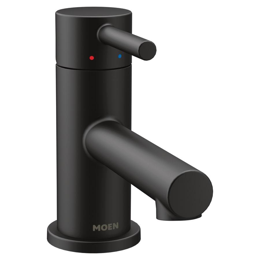Shop Moen Align Matte Black 1-Handle Single Hole Commercial Bathroom ...