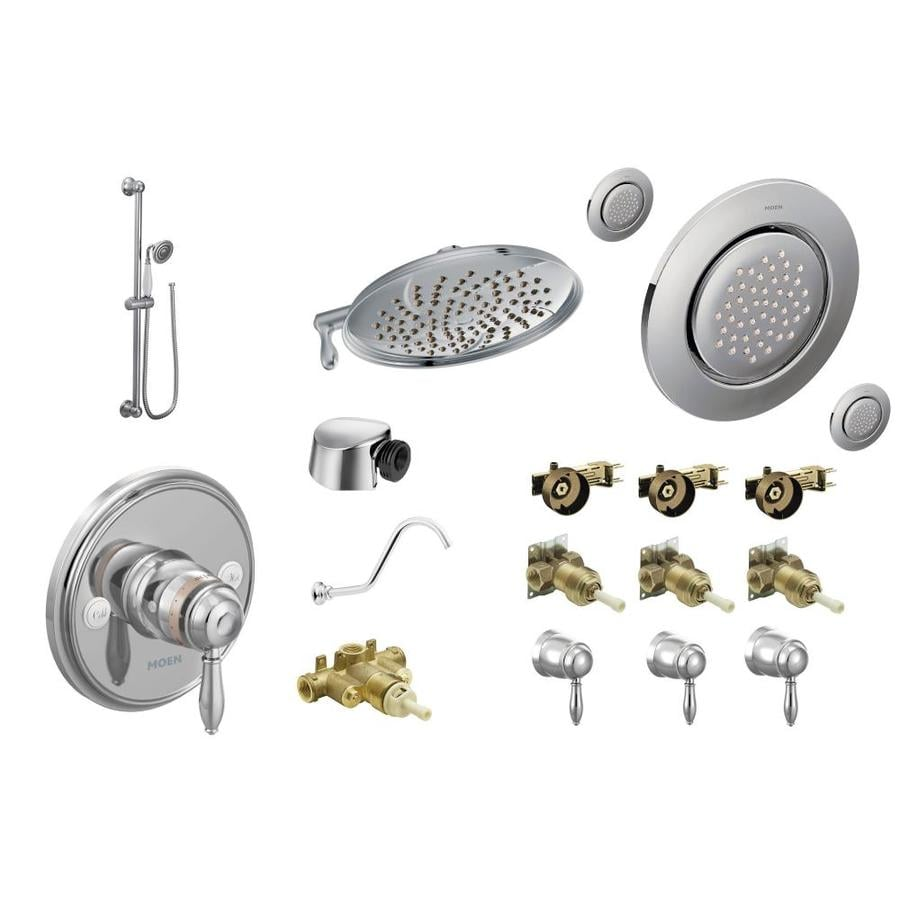 shop moen weymouth chrome spray shower system at. Black Bedroom Furniture Sets. Home Design Ideas