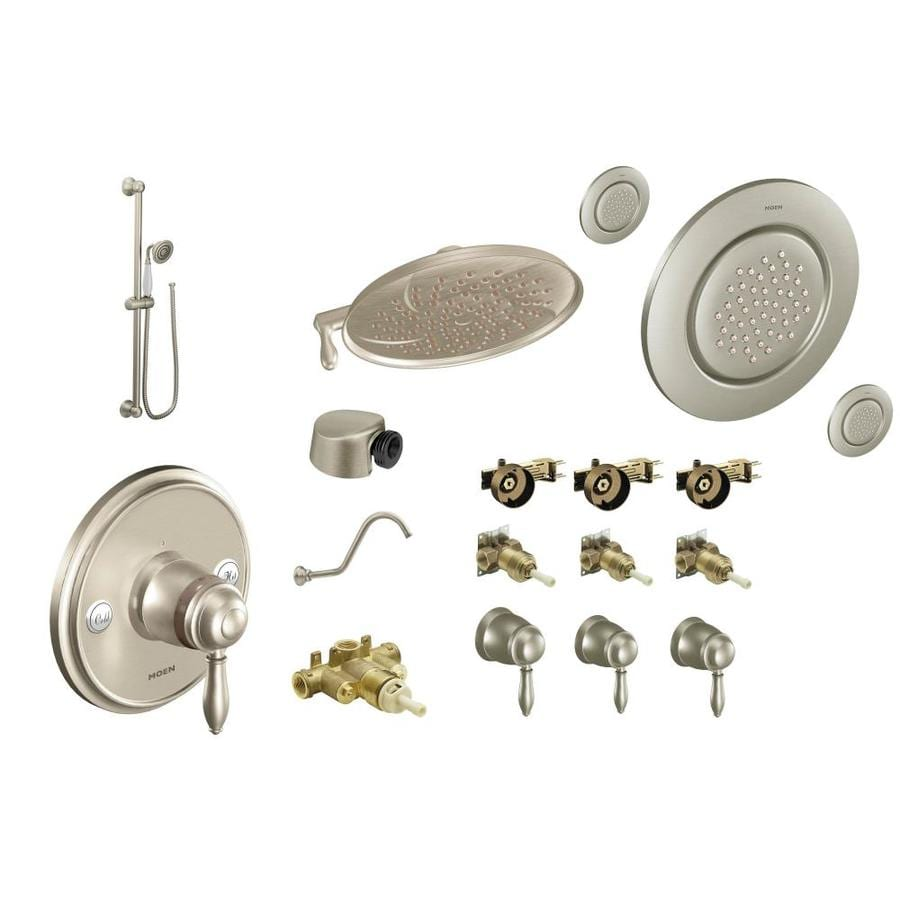 Exceptional Moen Weymouth Brushed Nickel Spray Shower System