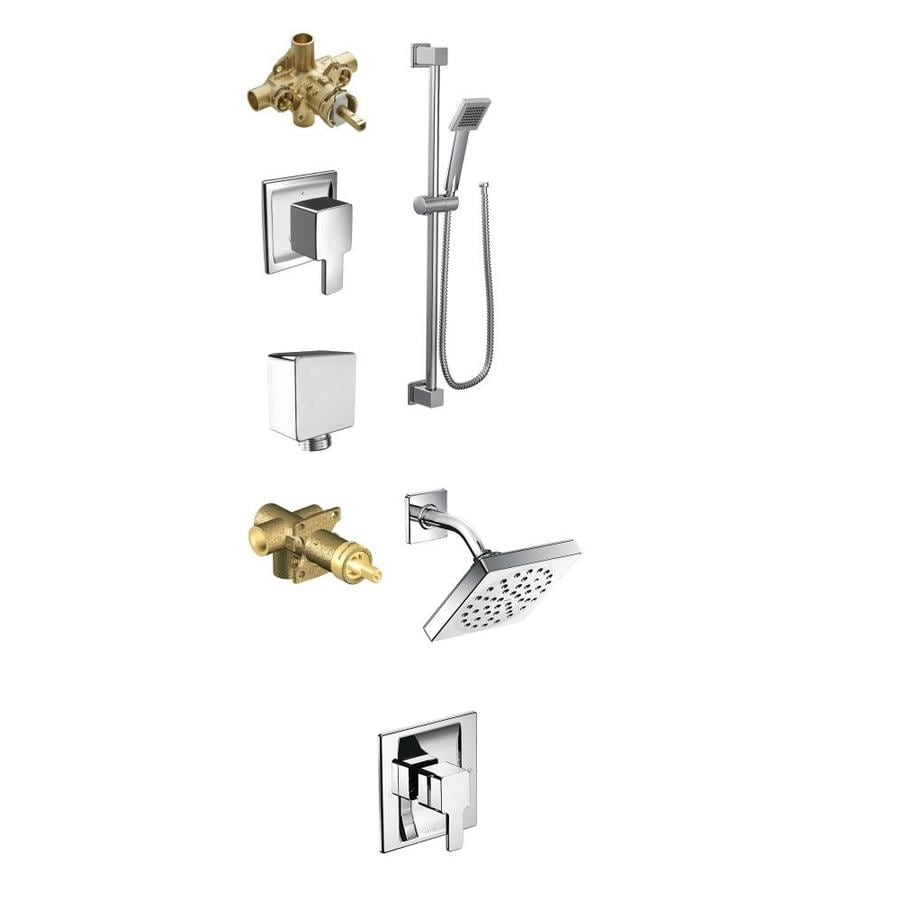 Shop Moen 90 Degree Chrome-Spray Shower System at Lowes.com
