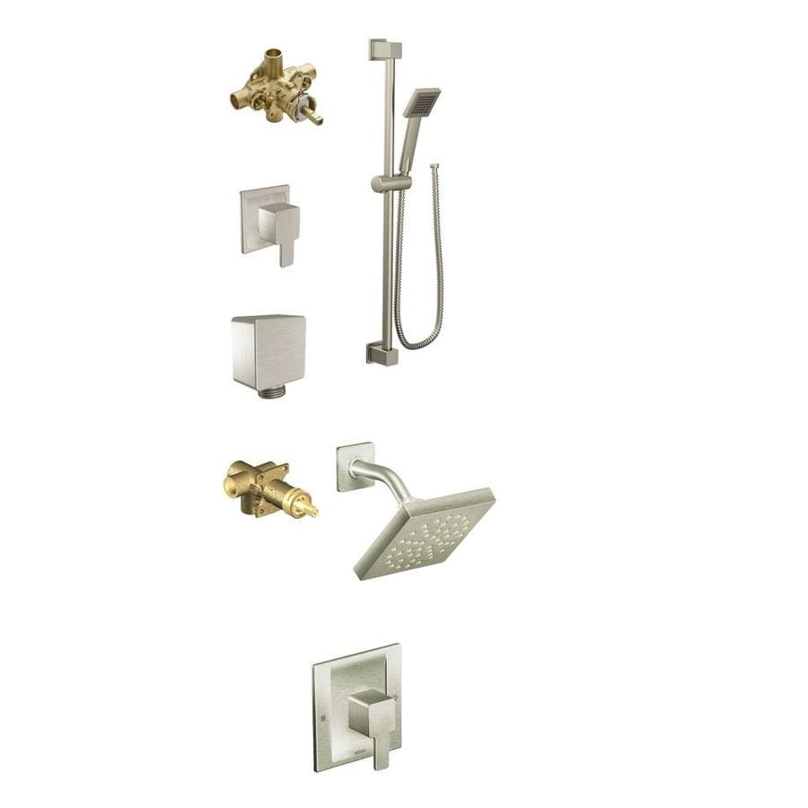 Moen 90 Degree Brushed Nickel Spray Shower Bar System At