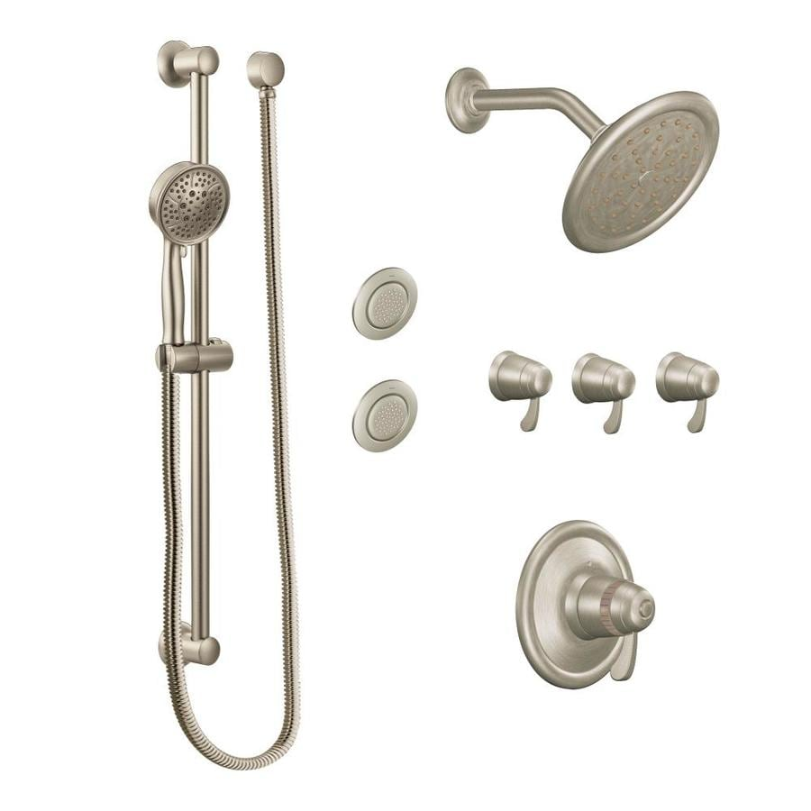 Ordinaire Moen Transitional Brushed Nickel Spray Shower System