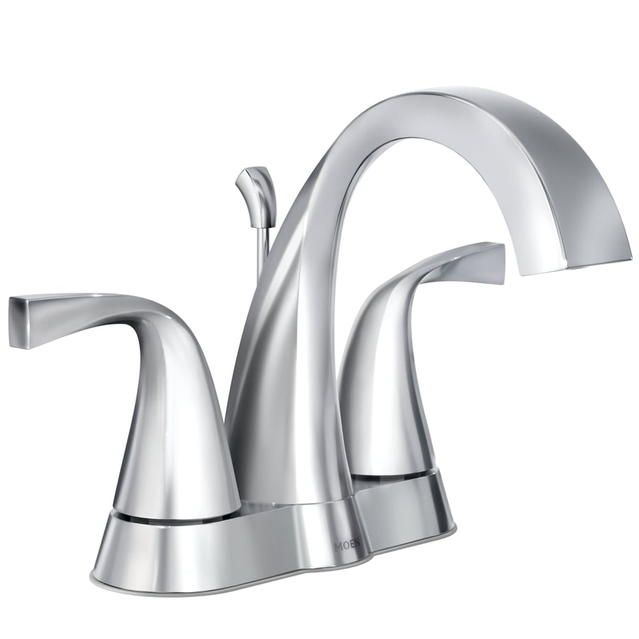 7 Faucet Finishes For Fabulous Bathrooms: Shop Moen Oxby Chrome 2-handle 4-in Centerset Bathroom
