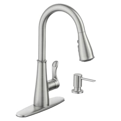 Hadley Stainless Steel 1-Handle Deck Mount Pull-down Commercial Kitchen  Faucet