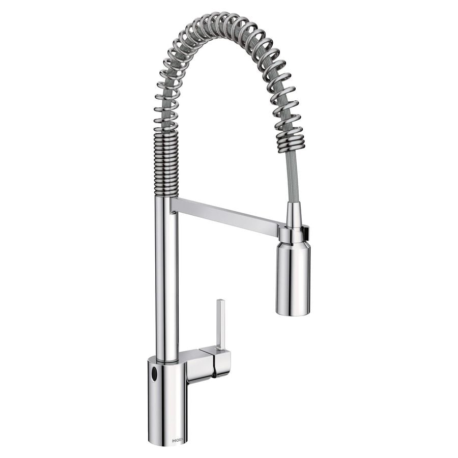 Moen Align Chrome 1 Handle Deck Mount High Arc Touchless
