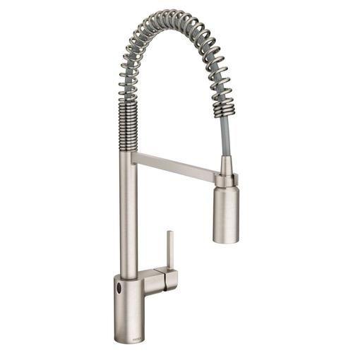 Align Spot Resist Stainless 1-Handle Deck Mount High-Arc Touchless  Commercial/Residential Kitchen Faucet