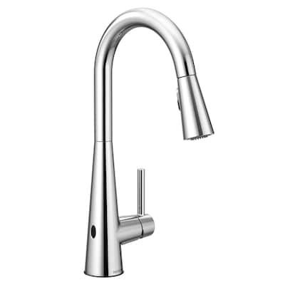 Sleek Chrome 1-handle Deck Mount High-arc Touchless Kitchen Faucet