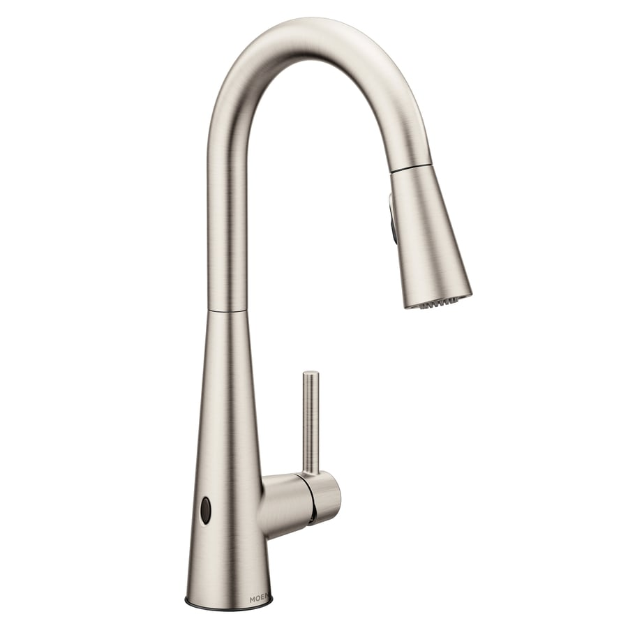 Moen Arbor Spot Resist Stainless 1 Handle Deck Mount Pull Down