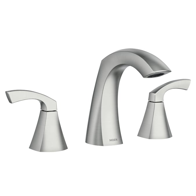 Moen Lindor Spot Resist Brushed Nickel 2-handle Widespread ...