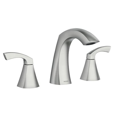 Lindor Spot Resist Brushed Nickel 2-Handle Widespread WaterSense Bathroom  Sink Faucet with Drain (Valve Included)