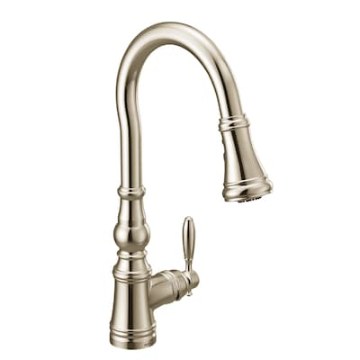 Moen Weymouth One-Handle Pulldown Kitchen Faucet Polished ...