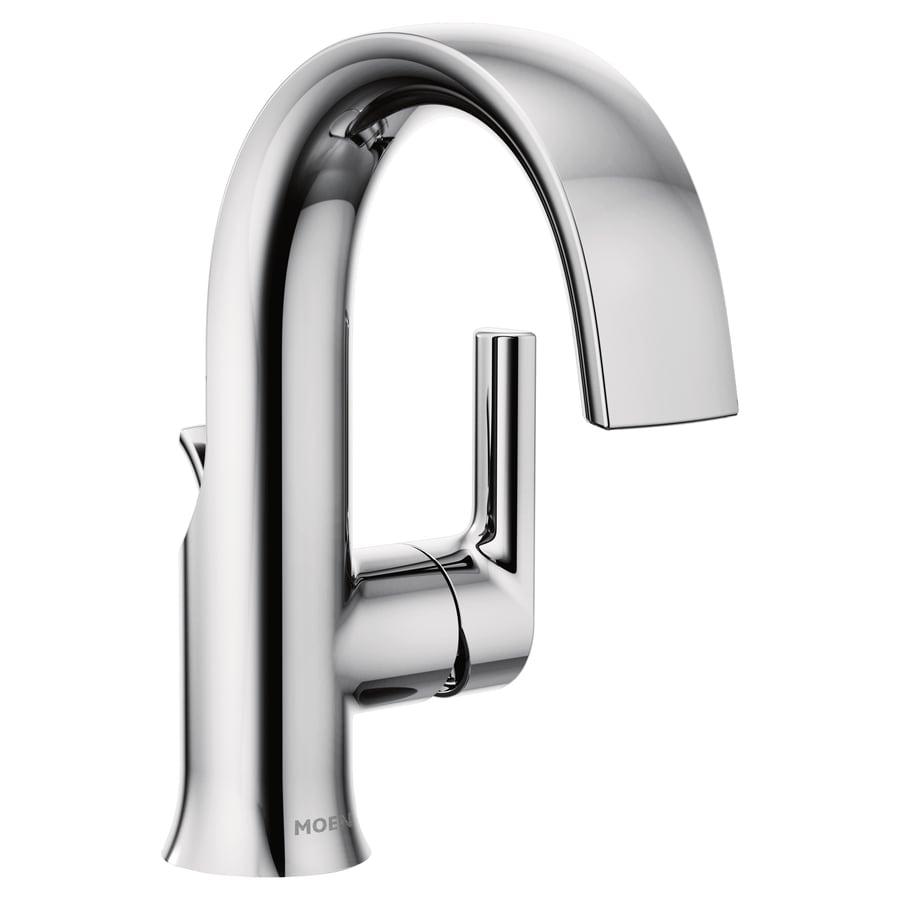 Moen the doux collection chrome 1 handle single hole - Moen chrome bathroom sink faucets ...