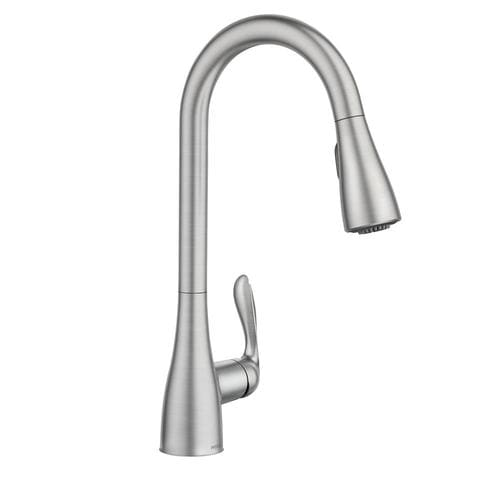 Moen Georgene Spot Resist Stainless 1-Handle Deck Mount Pull-down  Commercial/Residential Kitchen Faucet at Lowes.com