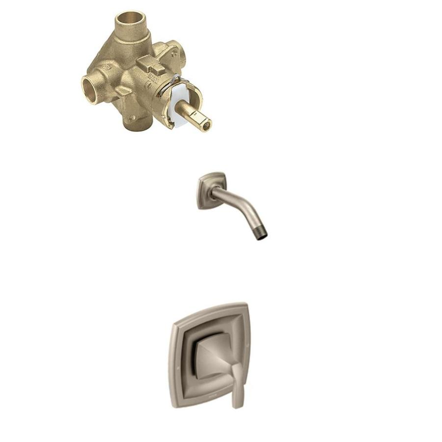 Shop Moen Voss Posi-Temp Brushed Nickel Bathtub and Shower Faucet ...