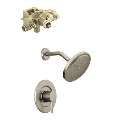 Moen Align Brushed Nickel 1 Handle Shower Faucet With Valve