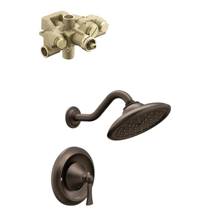 Moen wynford oil rubbed bronze 1 handle shower faucet with - Moen rubbed bronze bathroom faucets ...