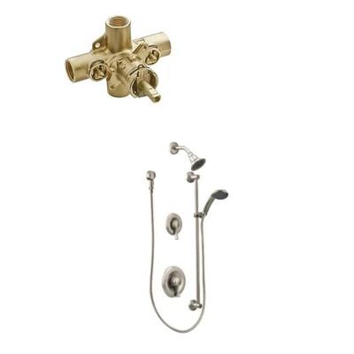 Moen 2 Handle Shower Faucet.Commercial Brushed Nickel 2 Handle Shower Faucet With Valve