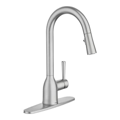 Adler Spot Resist Stainless 1-Handle Deck Mount Pull-down  Commercial/Residential Kitchen Faucet