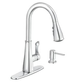 moen hadley chrome 1handle deck mount pulldown kitchen faucet