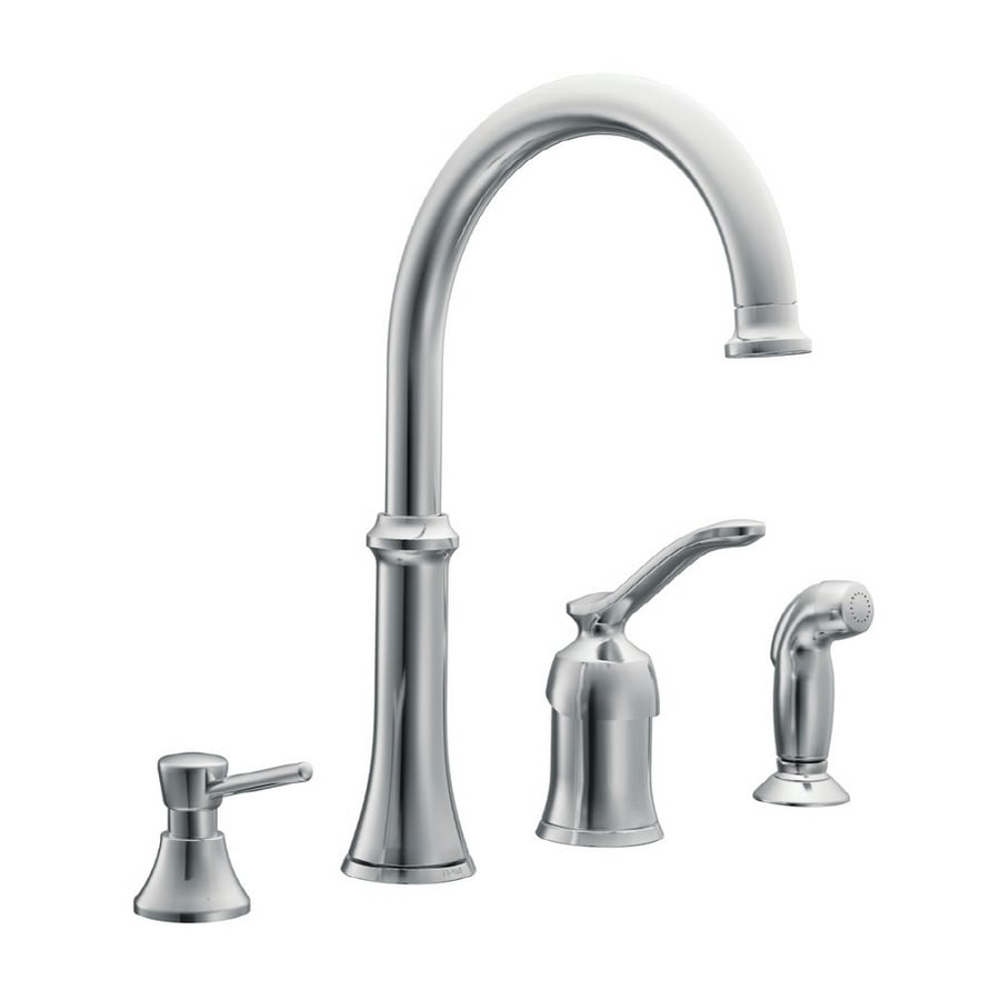 moen quinn chrome kitchen faucet with side spray at lowes com rh lowes com