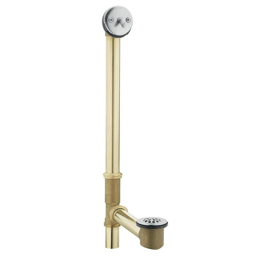 Moen 1-1/2-in Chrome Triplever with Brass Pipe