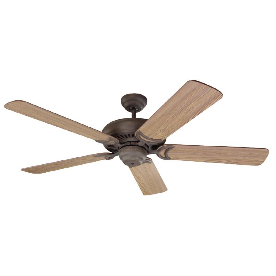 Monte Carlo Fan Company Designer Supreme 52-in Weathered Iron Downrod Mount Ceiling Fan