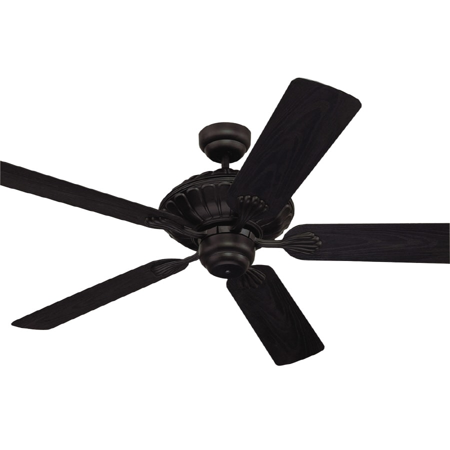 Monte Carlo Fan Company Cozumel 52-in Black Downrod Mount Ceiling Fan ENERGY STAR