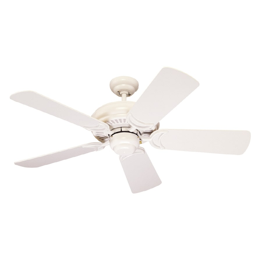 Monte Carlo Fan Company Designer Supreme II 44-in White Downrod Mount Ceiling Fan