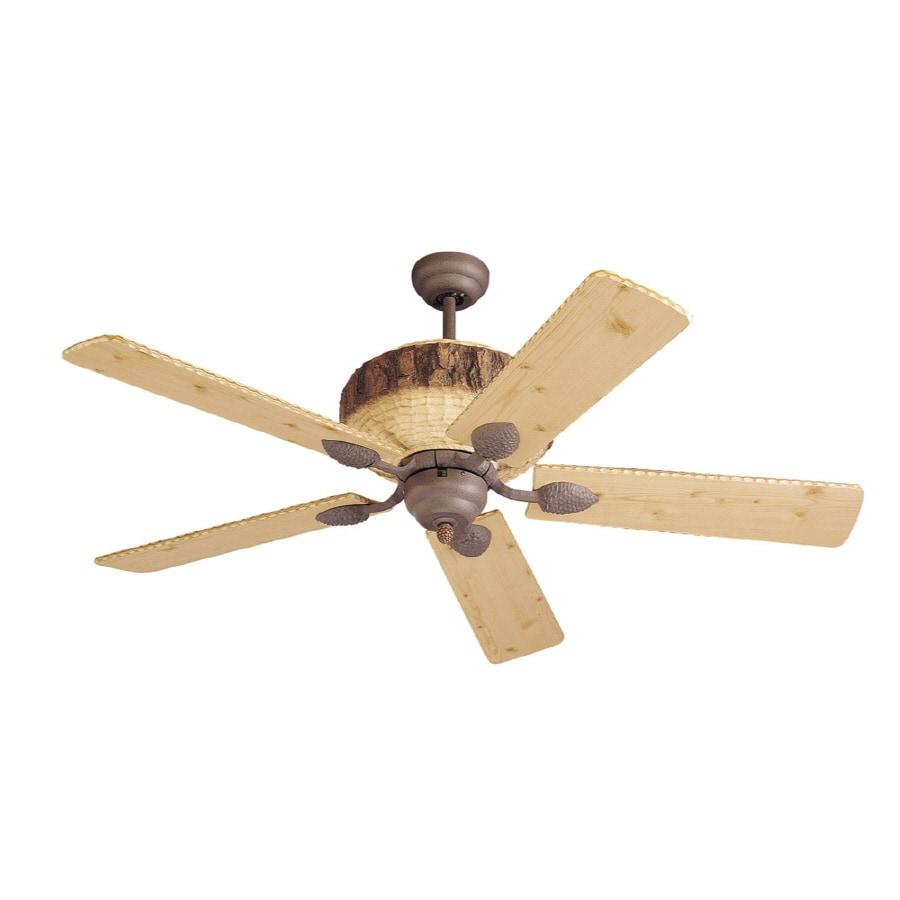 Monte Carlo Fan Company Great Lodge 52-in Weathered Iron Downrod Mount Ceiling Fan