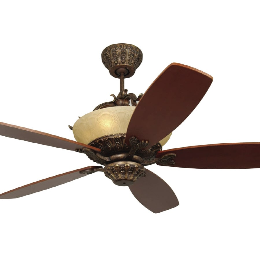 Monte Carlo Fan Company Royal Danube Tuscan Bronze Downrod Mount Ceiling Fan with Remote