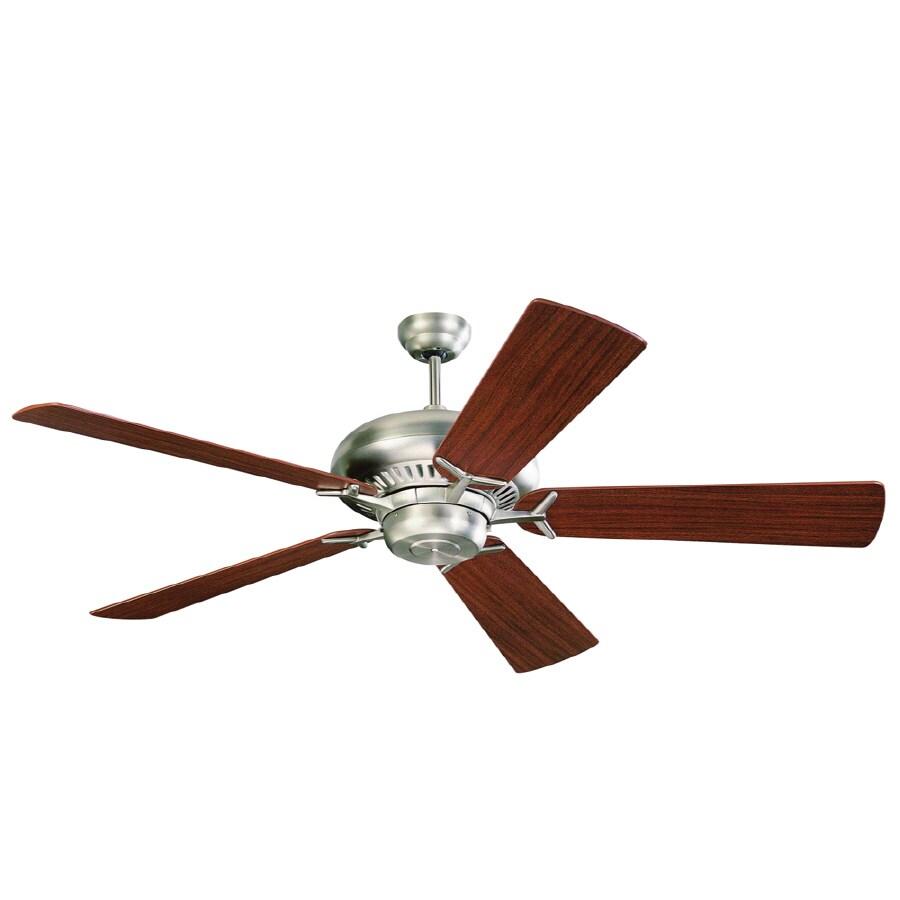 Monte Carlo Fan Company Grand Prix 60-in Brushed Steel Downrod Mount Ceiling Fan ENERGY STAR